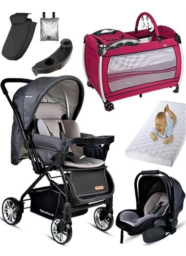 Baby Home Baby Home 790 Urbo Travel Sistem Bebek Arabası 600 Oyun Parkı Yatak Beşik Renkli